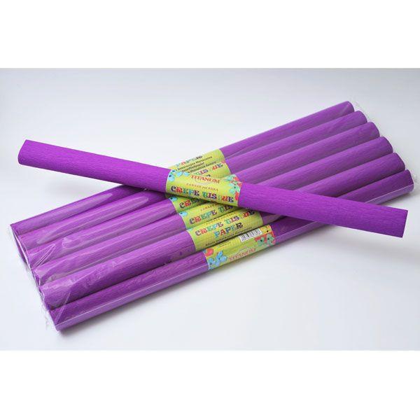 Бумага креп фиолетова...