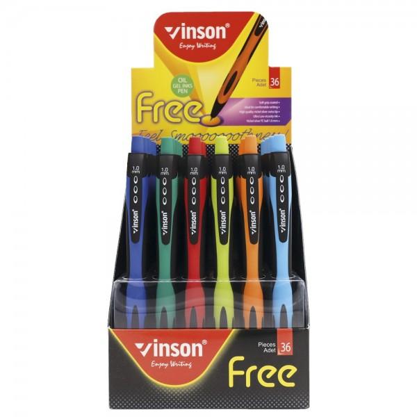 """Ручка масляная  """"FREE"""" Vinson"""