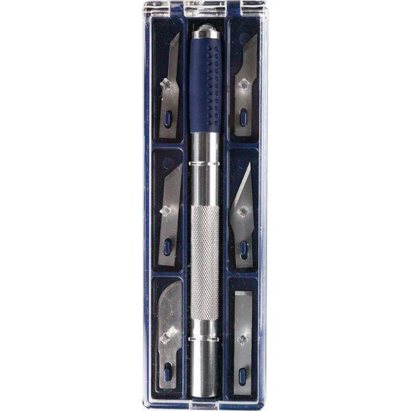 Нож для моделирования + 6 лезвий Titanum