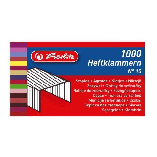 Скобы для степлера № 10 Herlitz