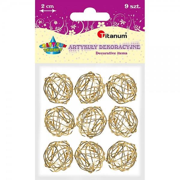 Клубки проволочные 2см золотые Titanum