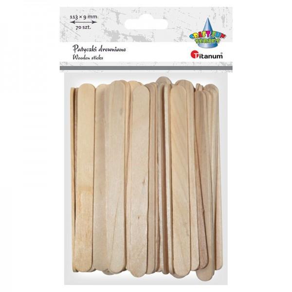 Палочки деревянные 113х9 мм Titanum