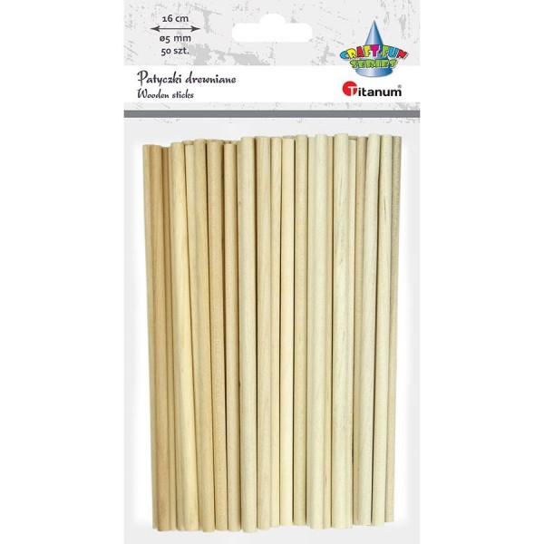 Палочки деревянные  160 х4  мм Titanum