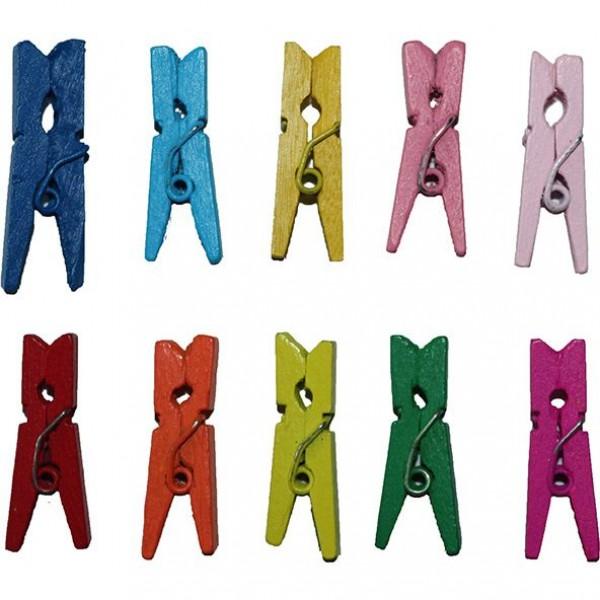 Прищепки деревянные цветные Titanum