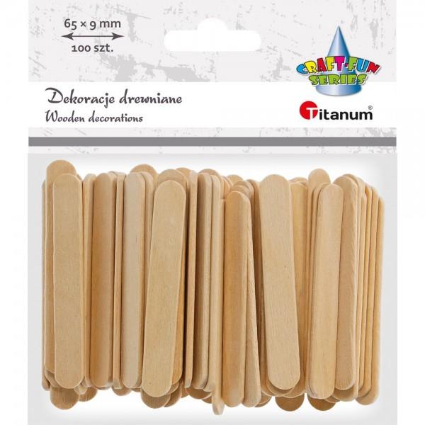 Палочки деревянные 65х9мм Titanum