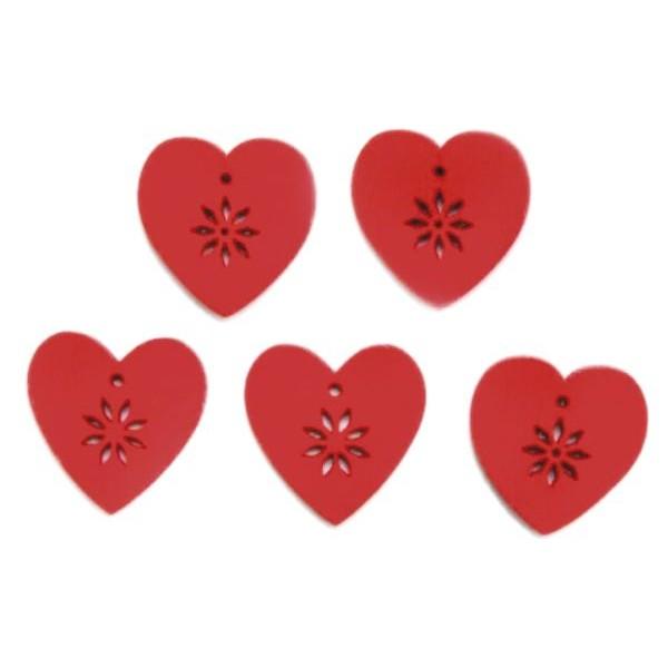 Сердце 15 штук (дерево)