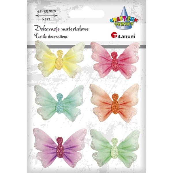 "Наклейки ""Бабочки"" ткань Titanum"