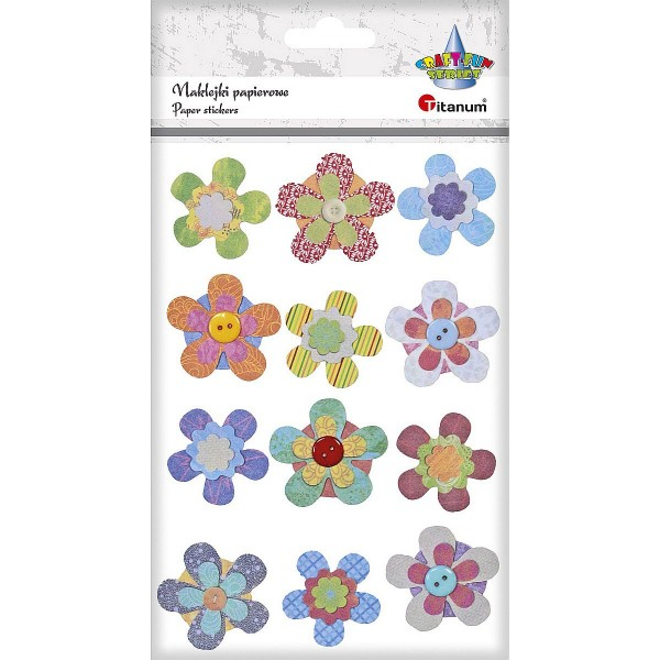 """Наклейки """"Цветы"""" бумага Titanum"""