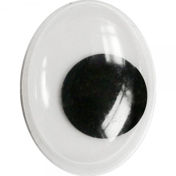 Глазки  15*20мм овальные (чёрно-белые) Titanum