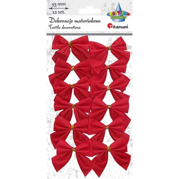 Бантики красные ткань