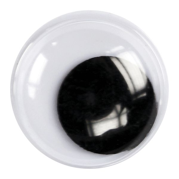 Глазки  18 мм (чёрно-белые) Titanum