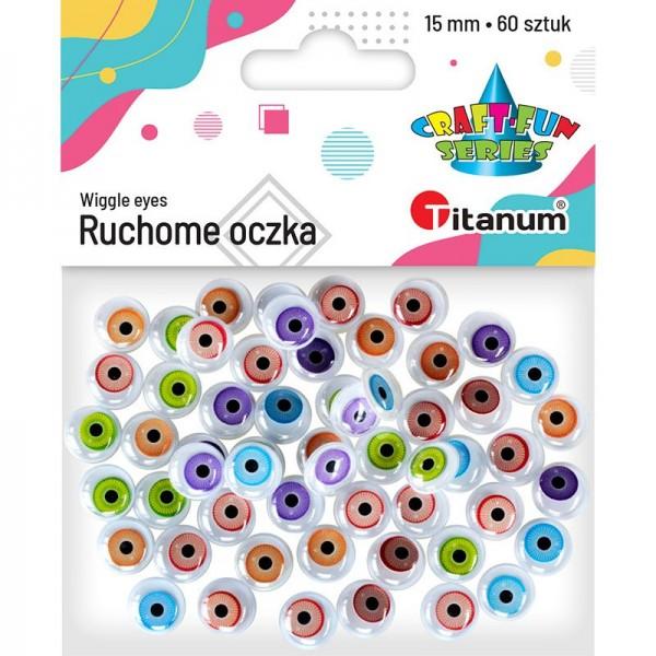 Глазки 15мм цветные Titan...