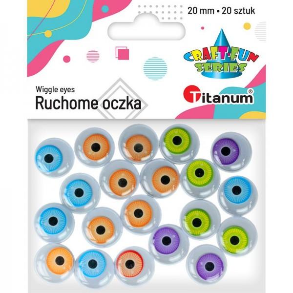 Глазки 20мм цветные Titanum