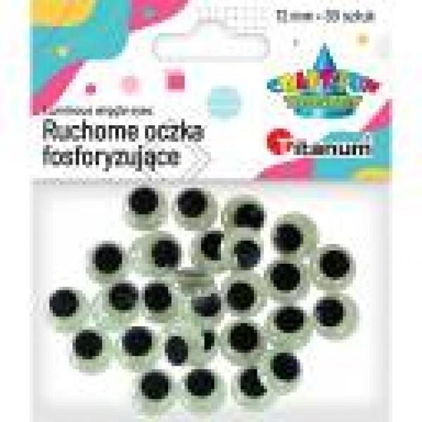 Глазки 12мм фосфоресцирующие Titanum