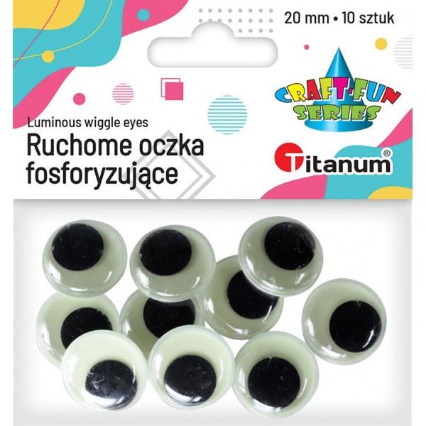 Глазки 20мм фосфоресцирующие Titanum