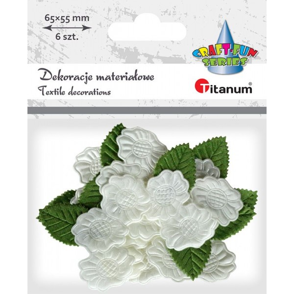 Цветы Гардении ткань Titanum