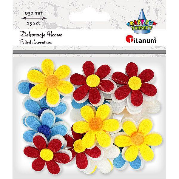 """пайетки """"Цветы""""фетр Titanum"""