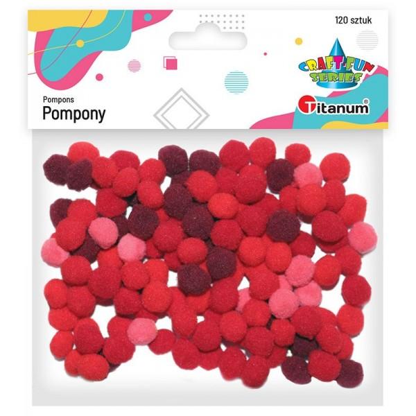 Помпоны красные 120шт. Titanum