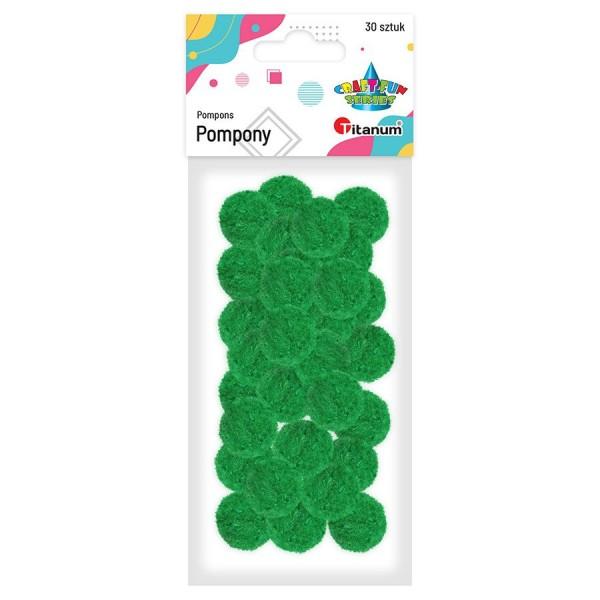 Помпоны 25 мм зеленые Ti...