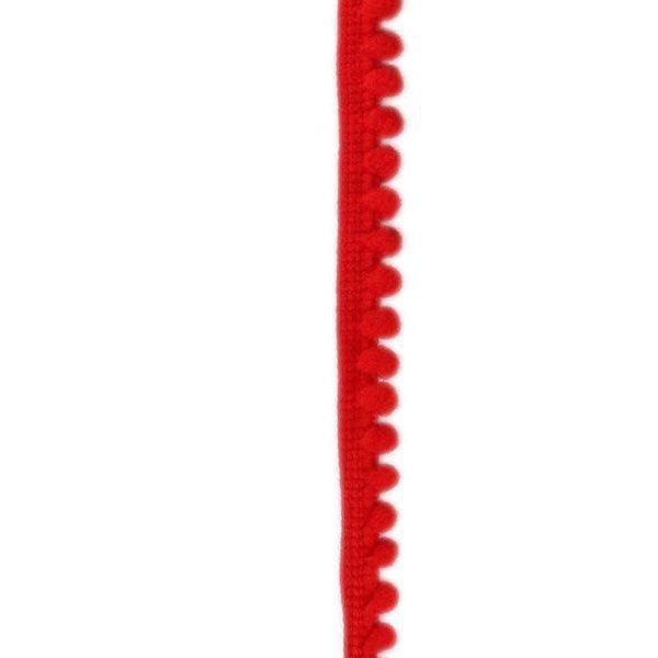 Тесьма с помпонами красная Titanum