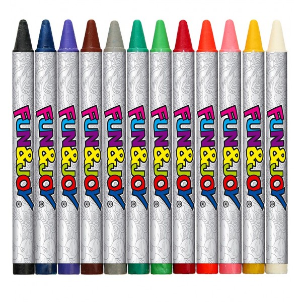 карандаши восковые 12 цветов Fun&Joy