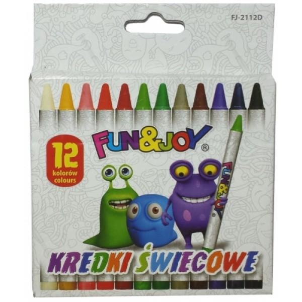 карандаши восковые 12 �...