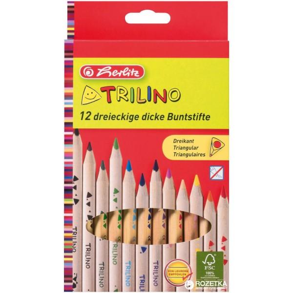 карандаши Trilino Jumbo 12цв.