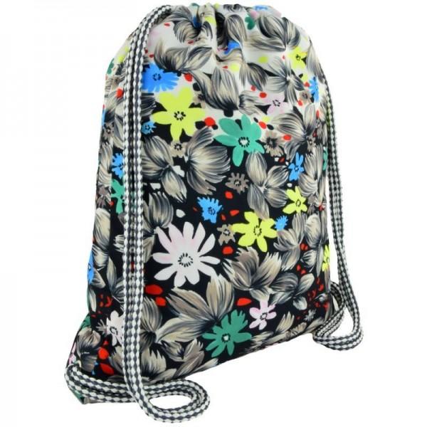 рюкзак-мешок Flowers Black