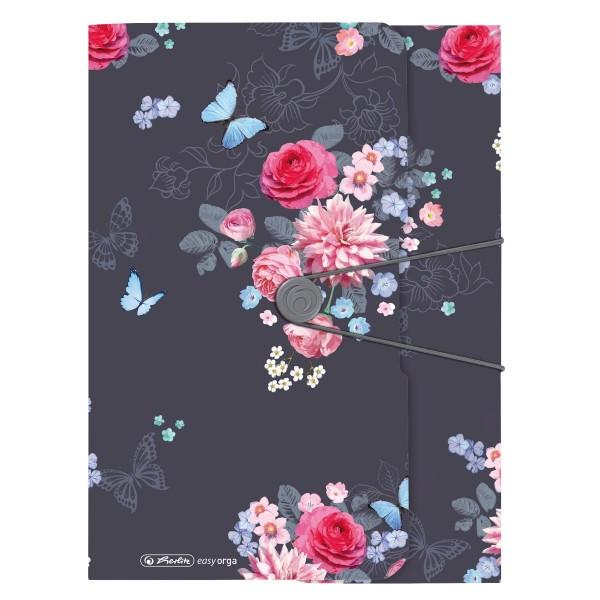 папка на резинке А4 Ladylike Flowers Herlitz