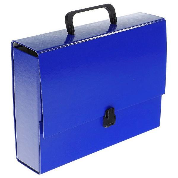 Папка с ручкой А4 синя�...
