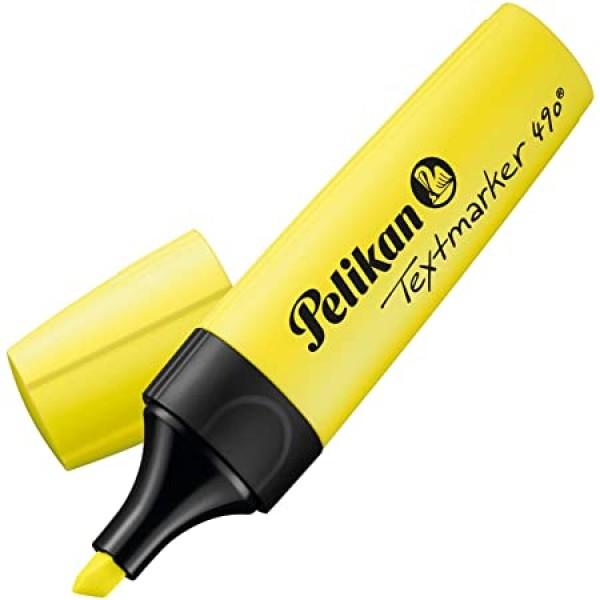 Текст-маркер 490 Pelikan желтый
