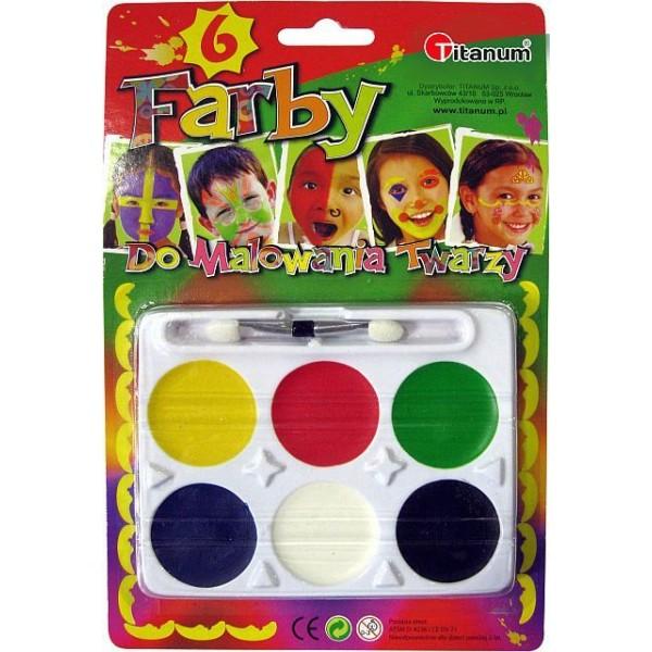 Краски для лица (6 цвет...