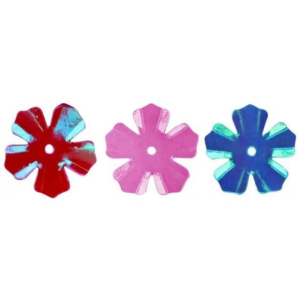 Радужные пайетки-цветочки