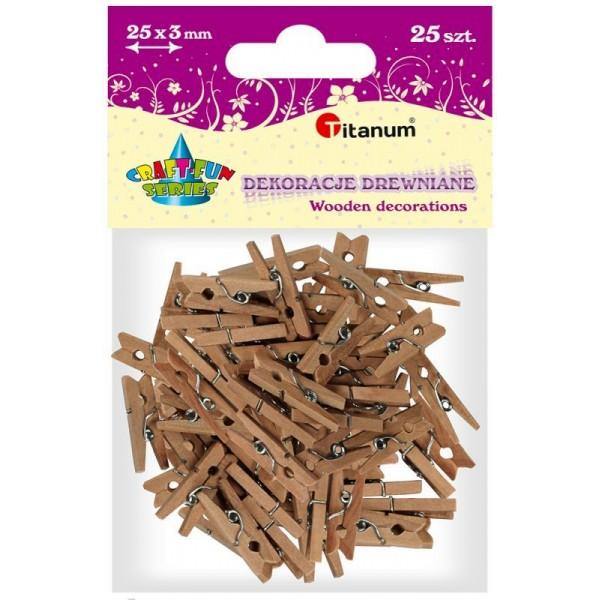 Прищепки деревянные Titanum