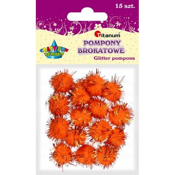 Помпоны 18мм оранжевые Titanum