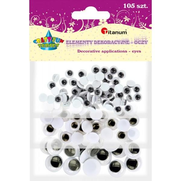 Глазки (чёрно-белые) Mix Titanum